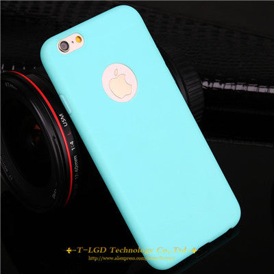 Candy Colors Soft TPU Silicon Phone Cases For iPhone 6 6s 5 5s SE 7 7 Plus - awashdress