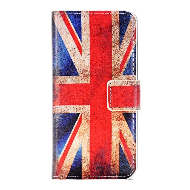 For Samsung Galaxy S3 S4 S5 mini S6 S7 EDGE PLUS NOTE 3 4 5 S7562 S7390 phone case Paint butterfly Flag pattern pu leather flip