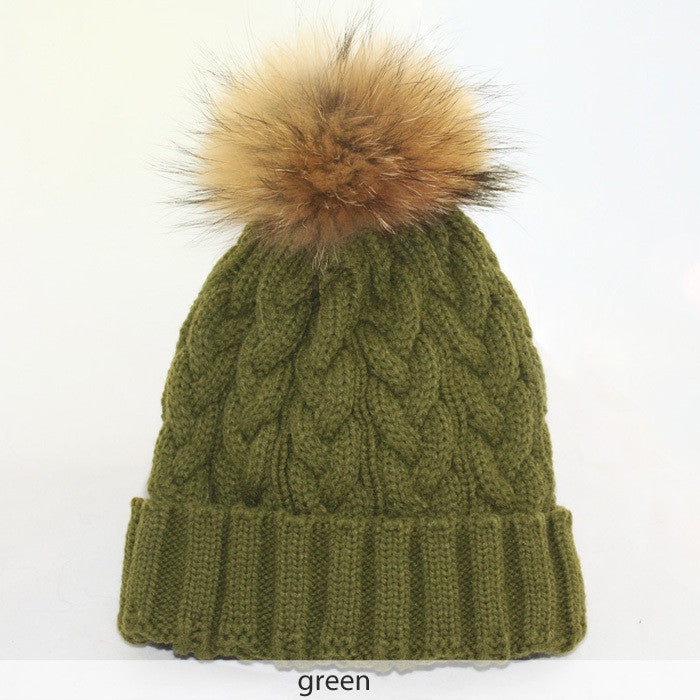 Wool Knitted Beanie Hat