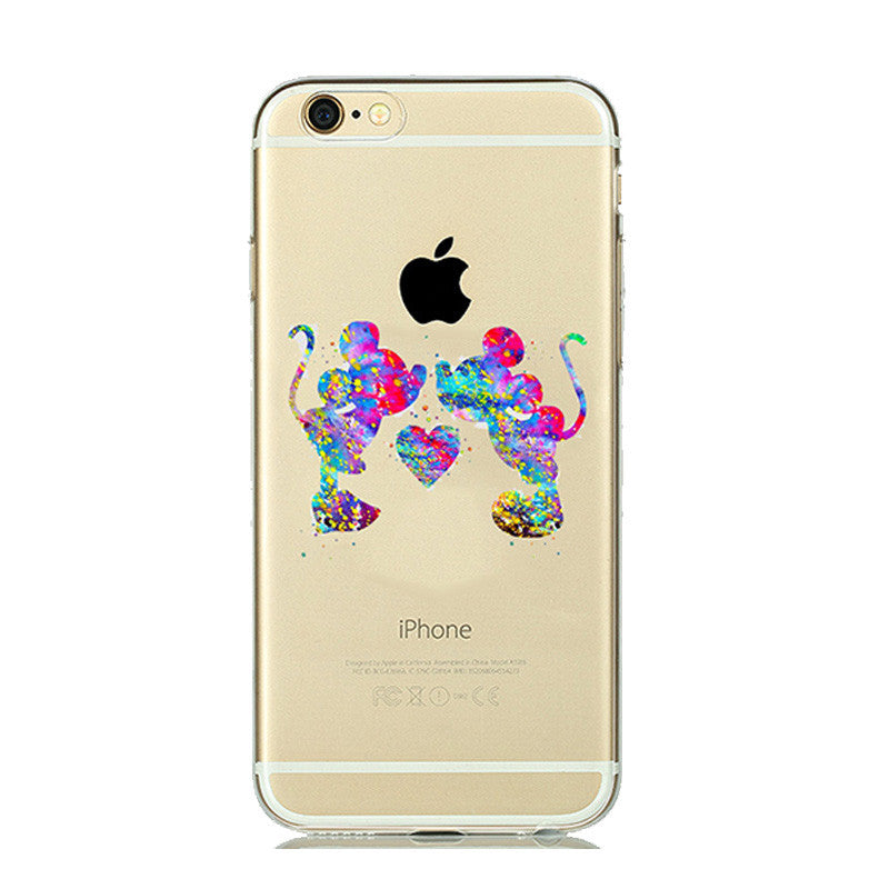 Cartoon Animal Kissing Case Cover - awashdress