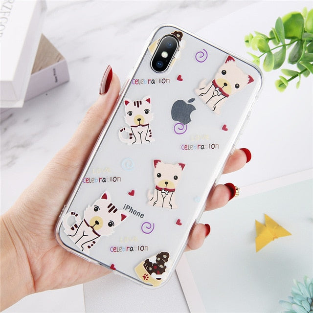 Lovebay Abstract Clear Cartoon Phone Case For iPhone 11 Pro Max X XR Xs Max 6 6S 7 8