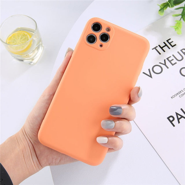 Lovebay Candy Color Phone Case For iPhone 11 11 Pro Max Liquid Silicone