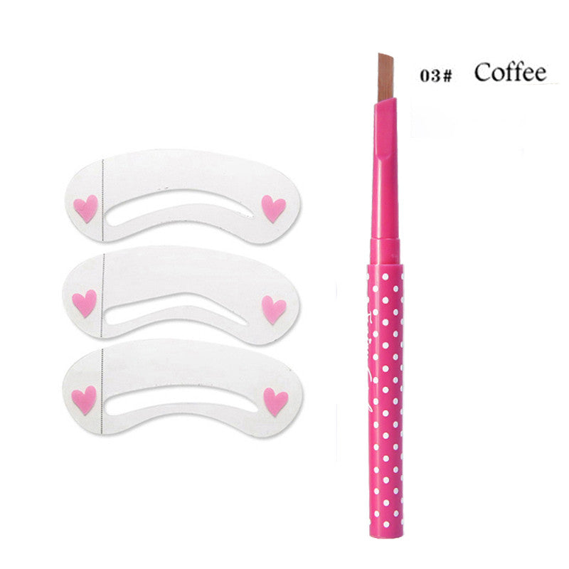 Waterproof Eyebrow Pencil With Eye Brow Card Tool