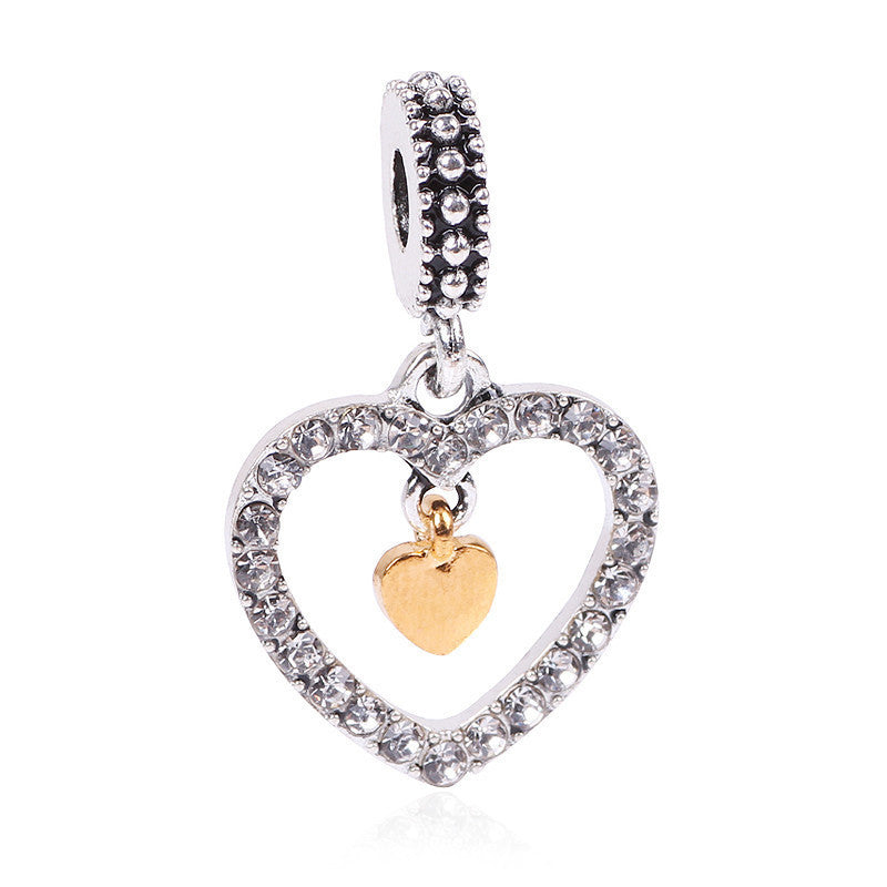 Angel Wings Heart Charm for Pandora Bracelets - awashdress