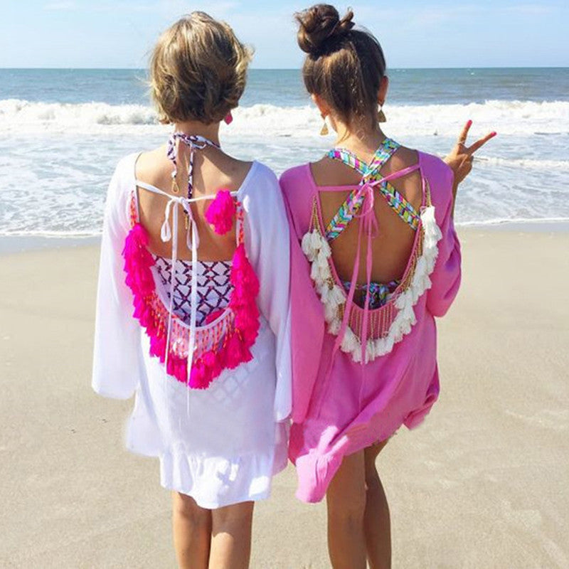 Sexy Backless Beachwear Cover Up