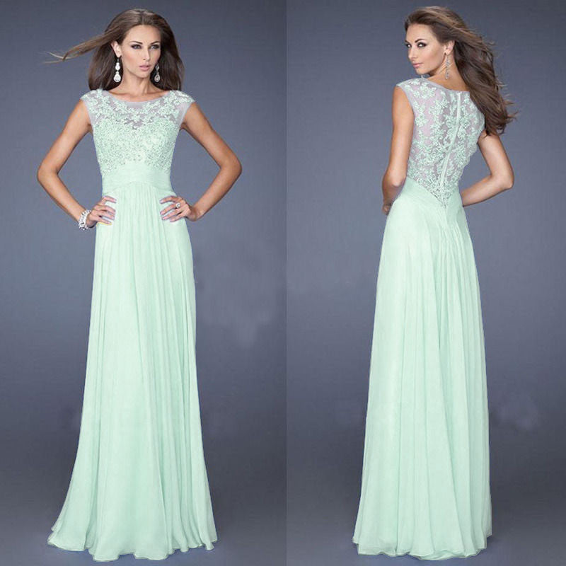 Prom slim o-neck sleeveless