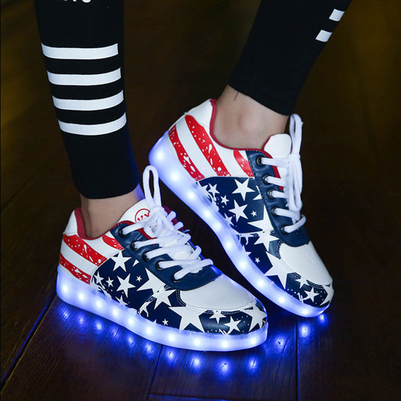 Colorful Led Luminous Shoes - awashdress