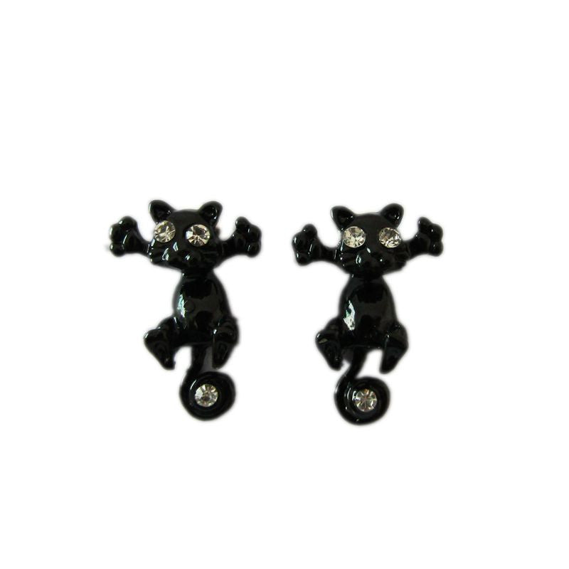 10 Color Fashion Lovely Classic Cute Cat  Earrings - awashdress