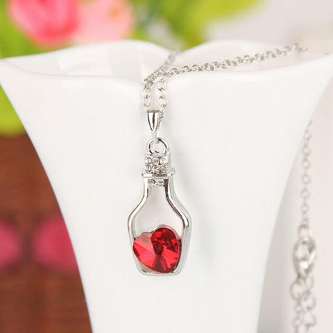 Crystal Necklace Love Drift Bottles - awashdress
