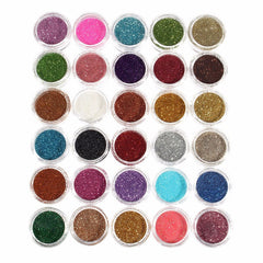 30pcs Mixed Colors Glitter Eyeshadow Powder