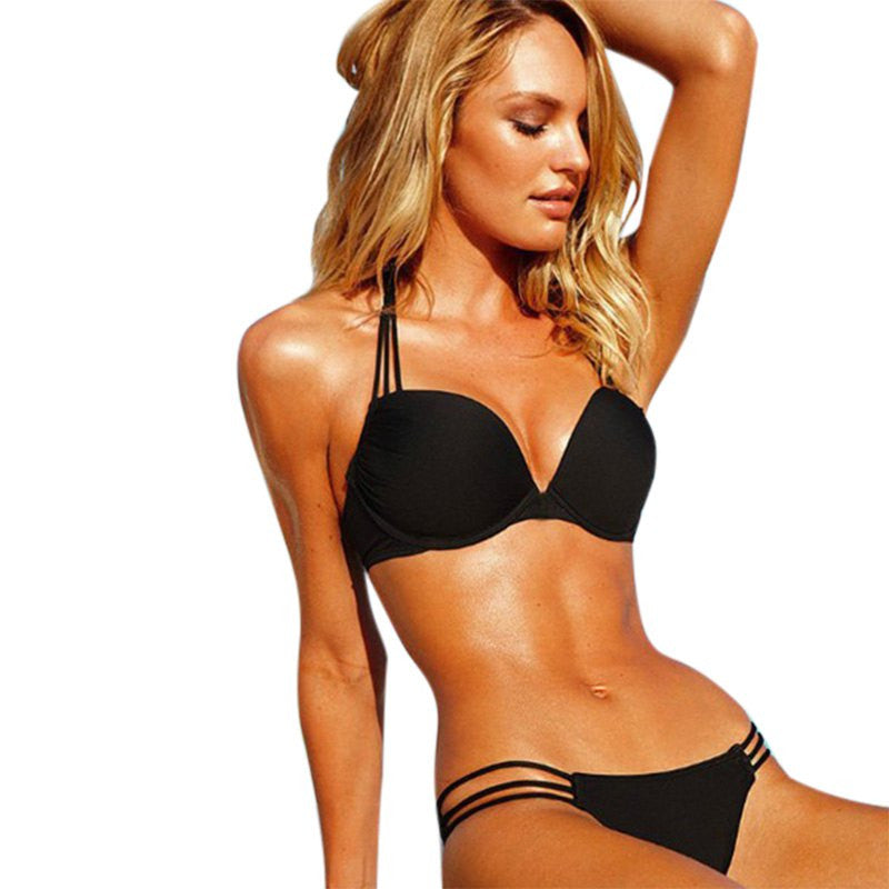 Hollow Out Bikini Push Up Two-Piece Swimsuit