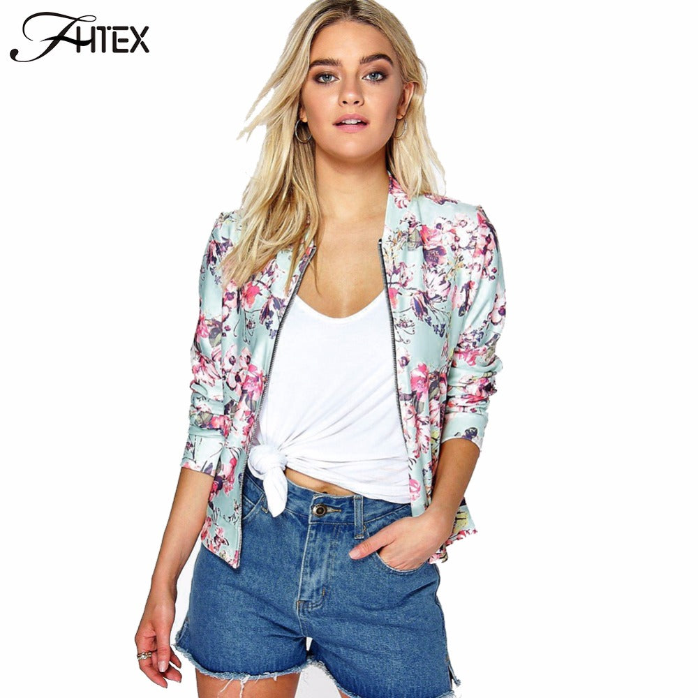 Floral Print Women Jackets