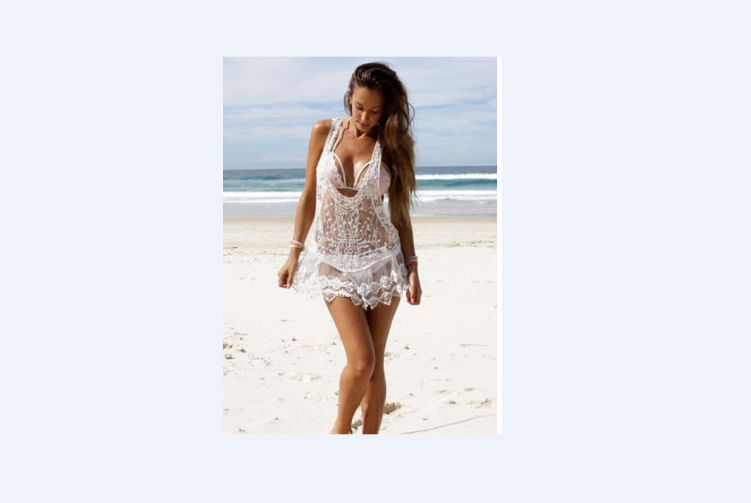Women Bathing Suit Lace Crochet Bikini Cover Up