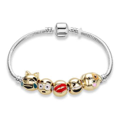Trendy Cartoon Beads Charm Bracelet