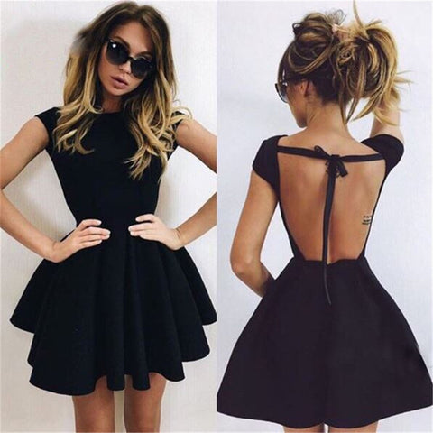 Backless Straps Cross Dress - awashdress