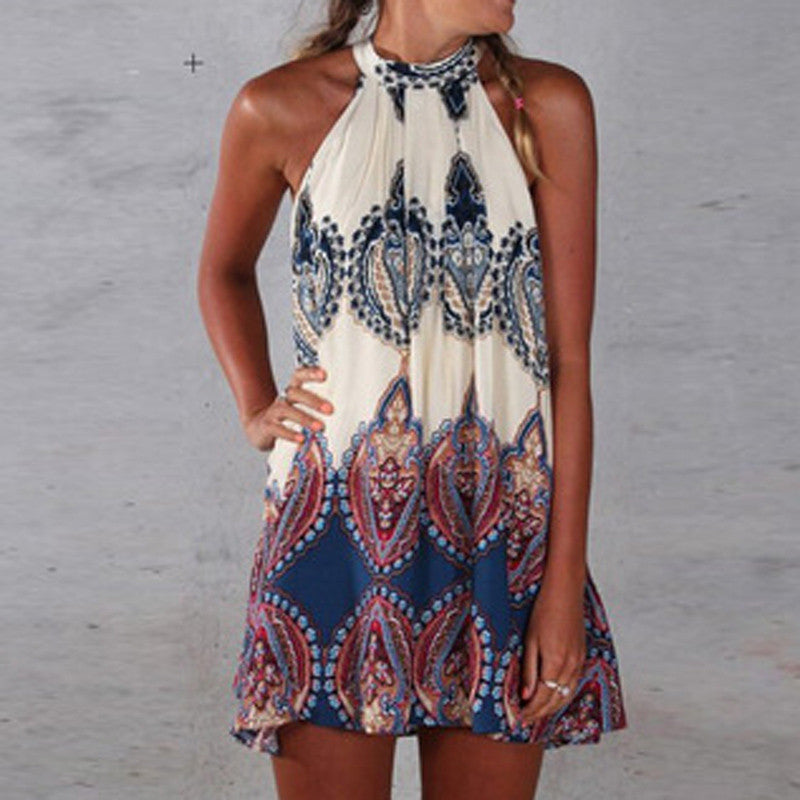 Printed Sleeveless Party Tops
