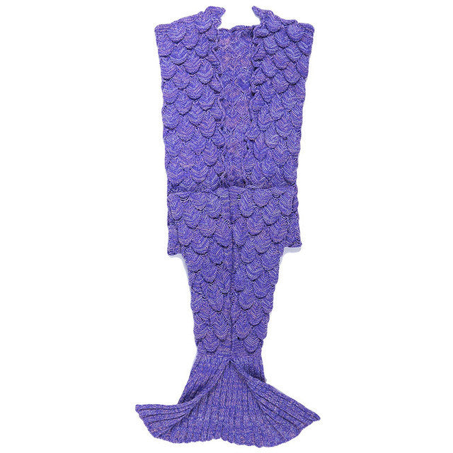 Mermaid Blanket Yarn Knitted