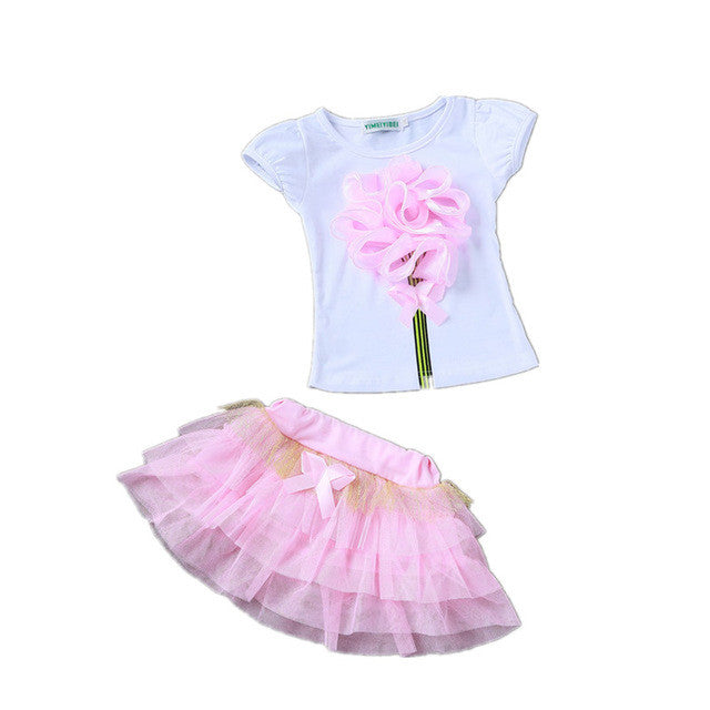 Girls Princess Dress + T shirt sets
