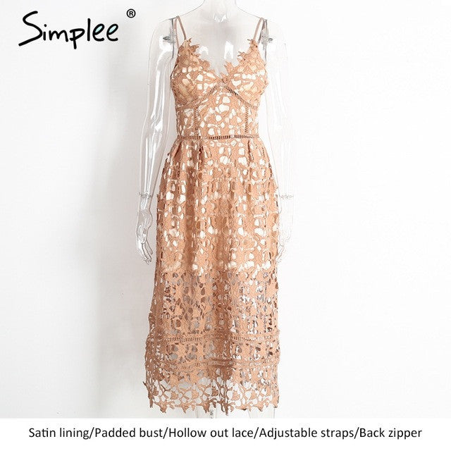 Padded lace dress sundress