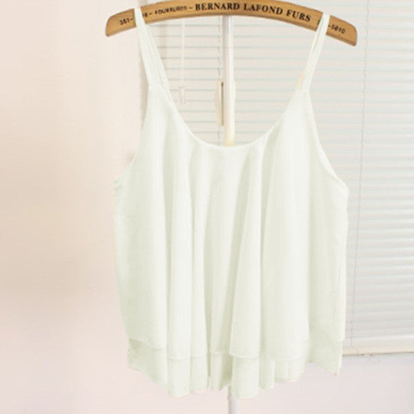 Tank Strap Sleeveless Cropped Top