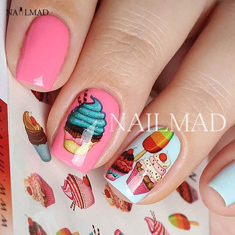 1 Sheet Delicious Cake Cake Nail Art Sticker - awashdress