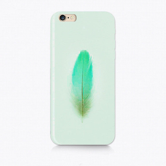 Beautiful Feather Soft Silicone Phone Case For Iphone Cover - awashdress