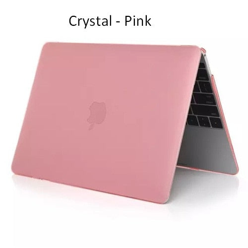"Crystal Matte Transparent Laptop Case Cover For Macbook Air 13 12 11 15 Pro Retina 13.3"" 15.4"" for Carcasa Macbook Pro 13 Case"