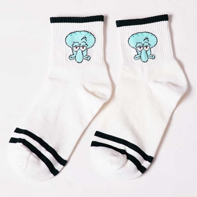Fashion Cartoon Character Cute Short Socks