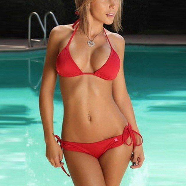 Triangle Push-up Swimsuit Bathing Suit Swimwear