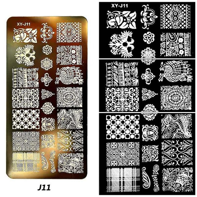 1pc Stencil Nail Art Manicure Template - awashdress