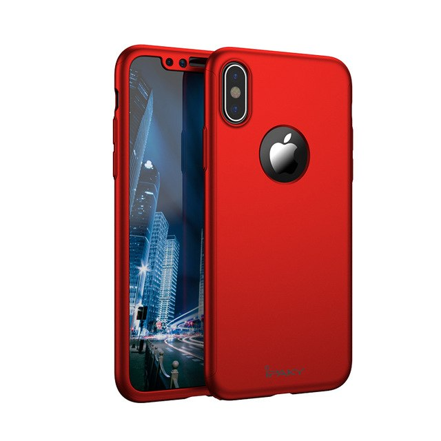For iphone X case Original iPaky Brand 360 Full coque For iPhone 10 silm case Ultra Thin PC Cover For iphonex iPhone10 cases 5.8