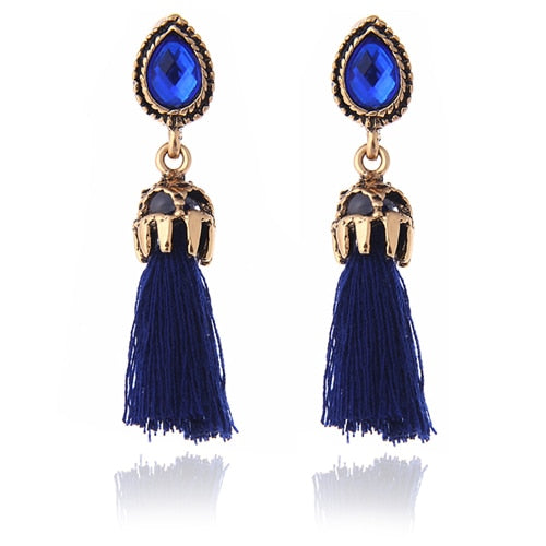 Long Tassel Earrings for women Pendents Fashion Jewelry black and red colors