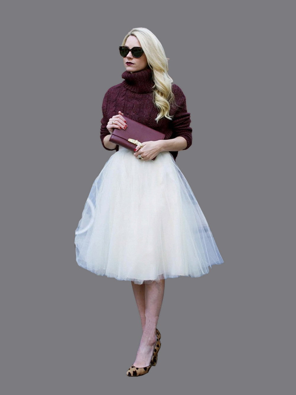 Tulle Skirt Knee Length