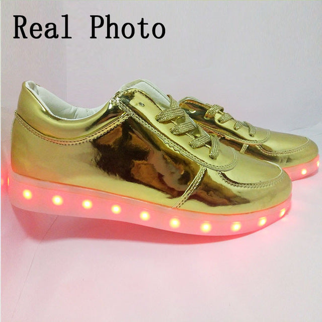 Luminous Sneakers with Light Up Sole Glowing