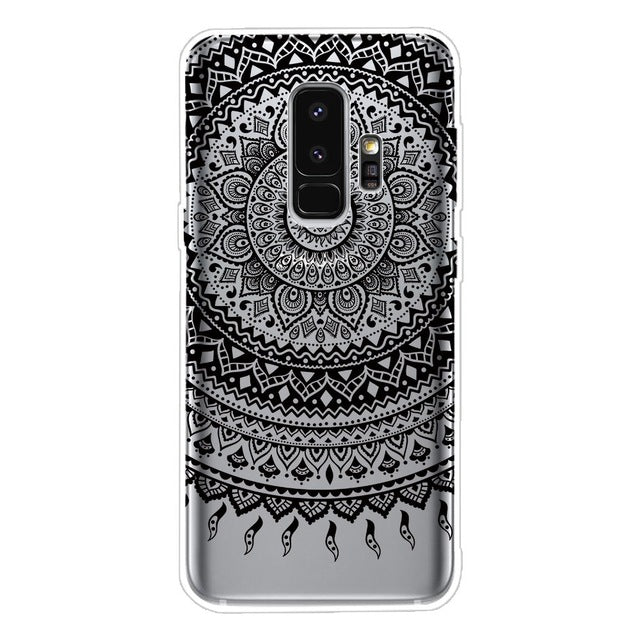 Flower Case For Samsung Galaxy S9 A8 2018 Coque For Galaxy S7 S6 Edge S8 S9 Plus