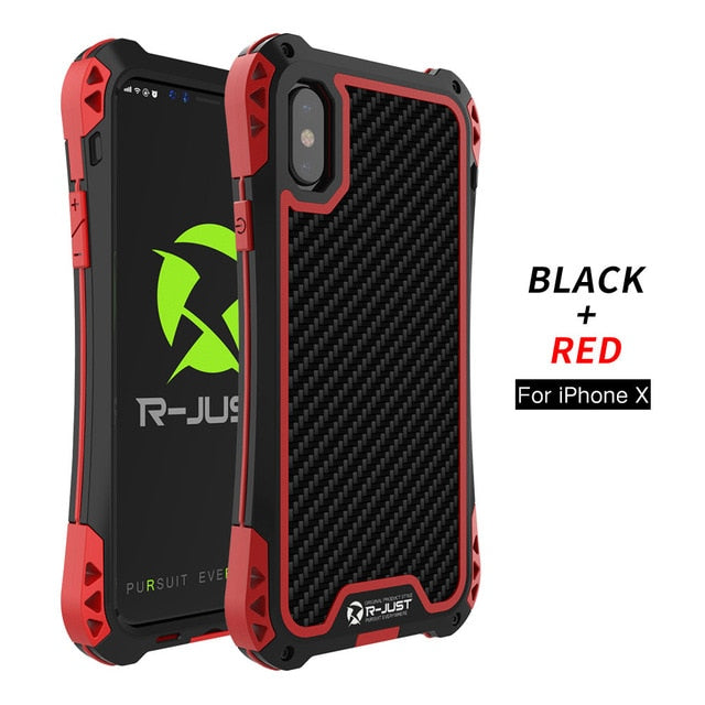 TPU Carbon Fiber Metal Bumper Case Cover for iPhone X iPhone10 ORIGINAL