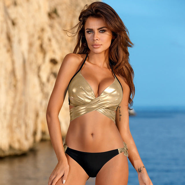 Criss Bandage Bikini Beach Bathing Suit