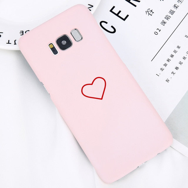 Couples Love Heart Case For Samsung Galaxy S8 S9 Note 8 S8 S7 S7 Edge Cases
