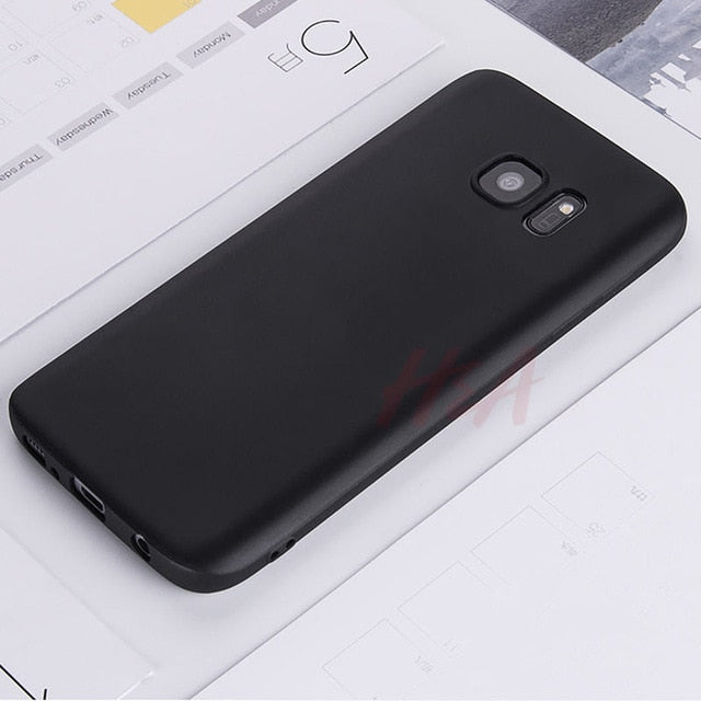 Ultra Thin Matte Silicone Cover Case for Samsung Galaxy A5 A3 A7 J5 J7 2015 2016 2017 S5 S6 S7 Edge S8 S9 Plus Soft Case
