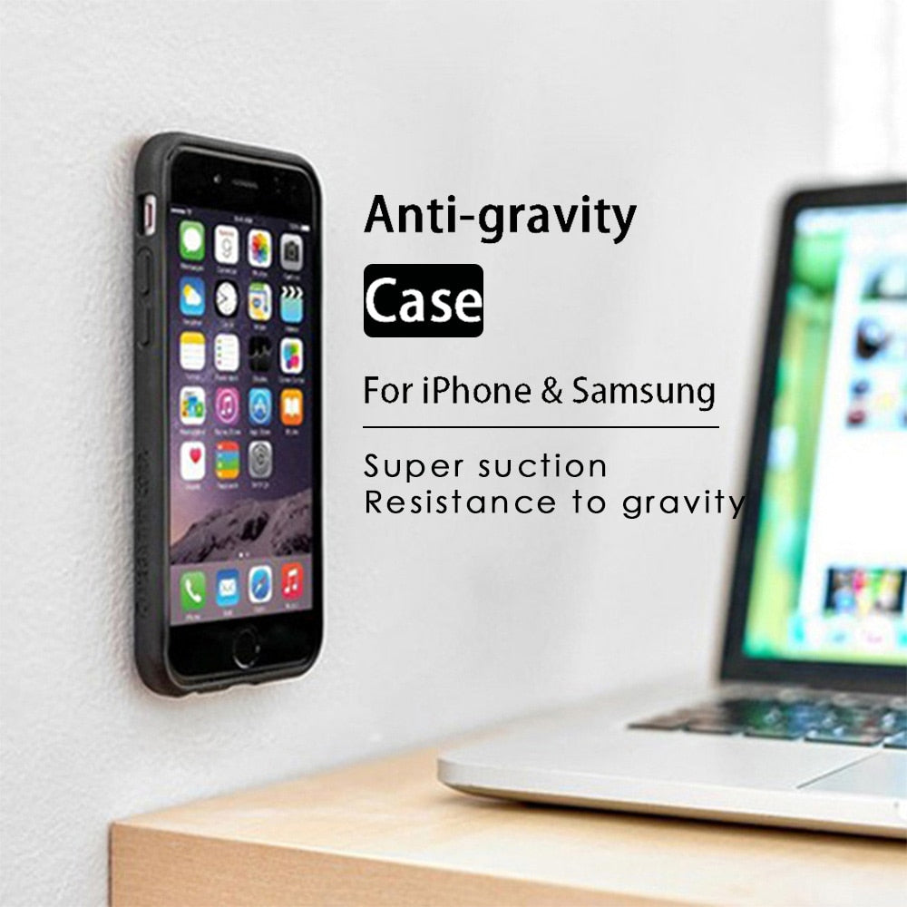 Anti Gravity Case For iPhone X 8 7 6 6S Plus 5S Adsorbable Cover For Samsung Galaxy S6 S7 Edge S5 S8 S9 Plus Note 8 P9