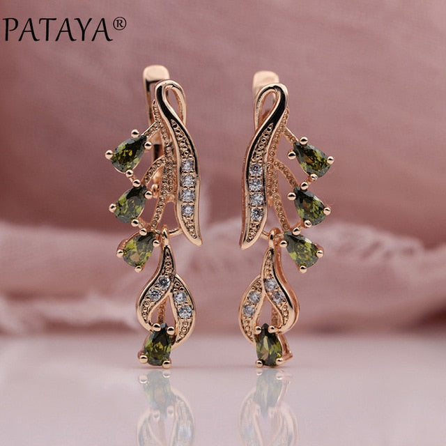 Zircon Long Dangle Earrings