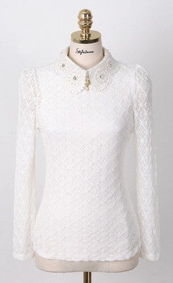 Lace Blouse Shirt - awashdress