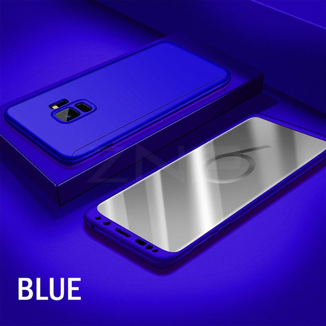 360 Full Degree Cover Phone Case For Samsung S7 Note 8 S7 Edge S9 Case For Samsung Galaxy S9 S8 Plus Shockproof Case