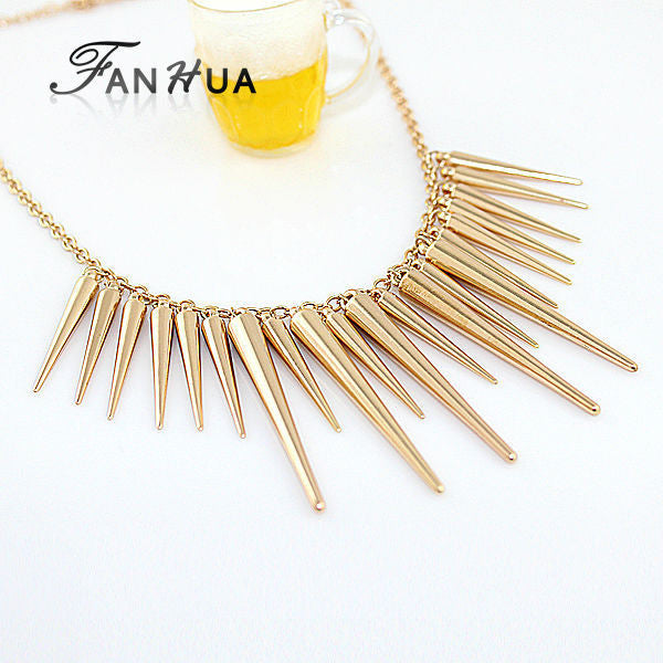 Spike Maxi Statement Necklace