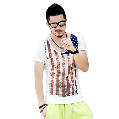 Retro Mens Summer Tops Tees