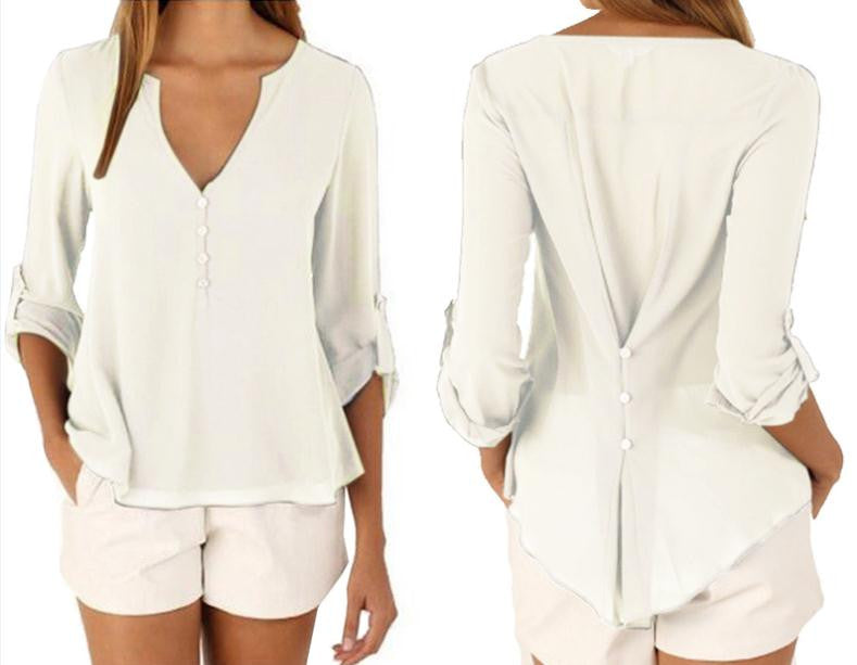 Back tied Long Sleeve Shirt - awashdress
