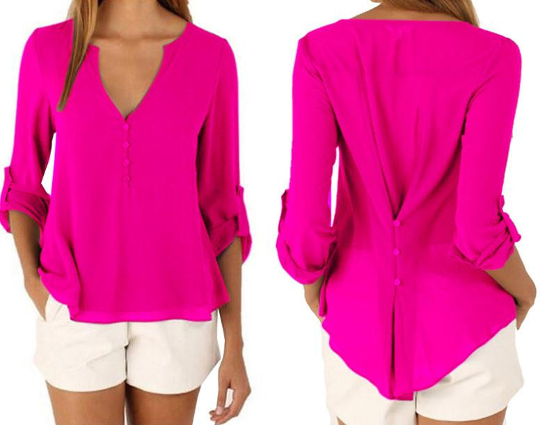 Back tied Long Sleeve Shirt