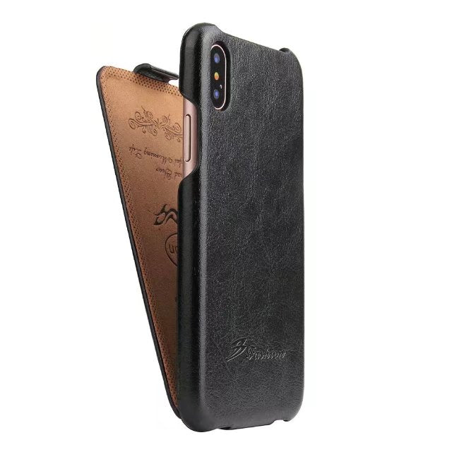 Apple iPhone X 10 Case Flip Up Down Style Fixed type Leather Flip Ultra thin Cover Protect Cases black for iPhone10 iphoneX