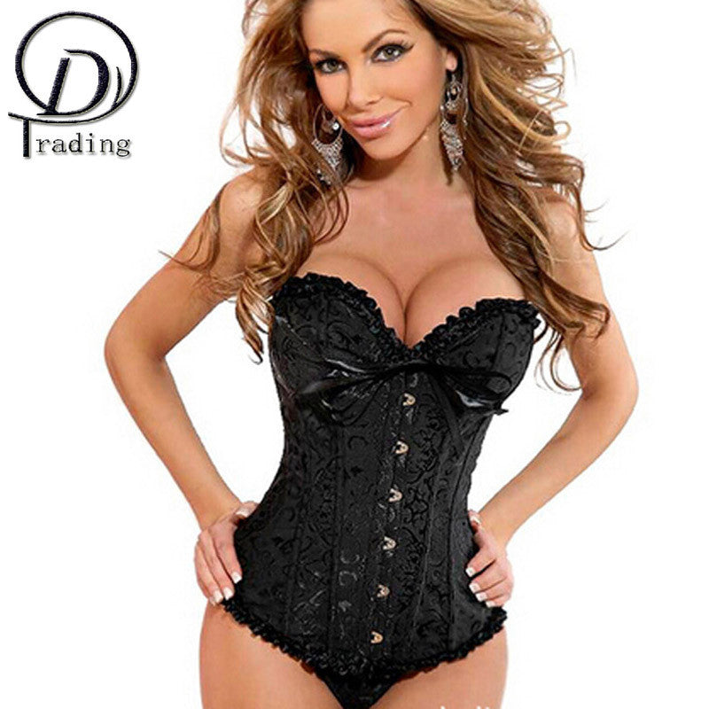 Satin Bone Lace Up Bustier Strapless