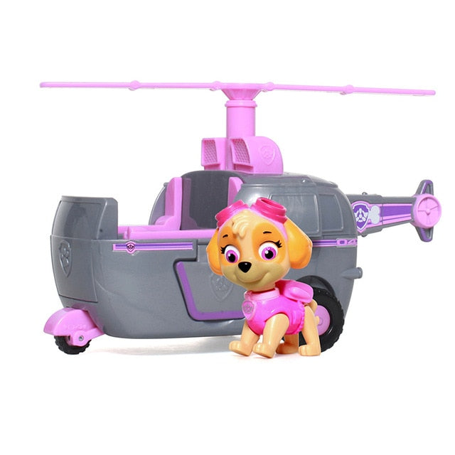 Paw Patrol dog Skye High Flyin Copter works with Patroll Puppy Dog Patrol Car Action Figure Patrulla Canina Toys Kids gift